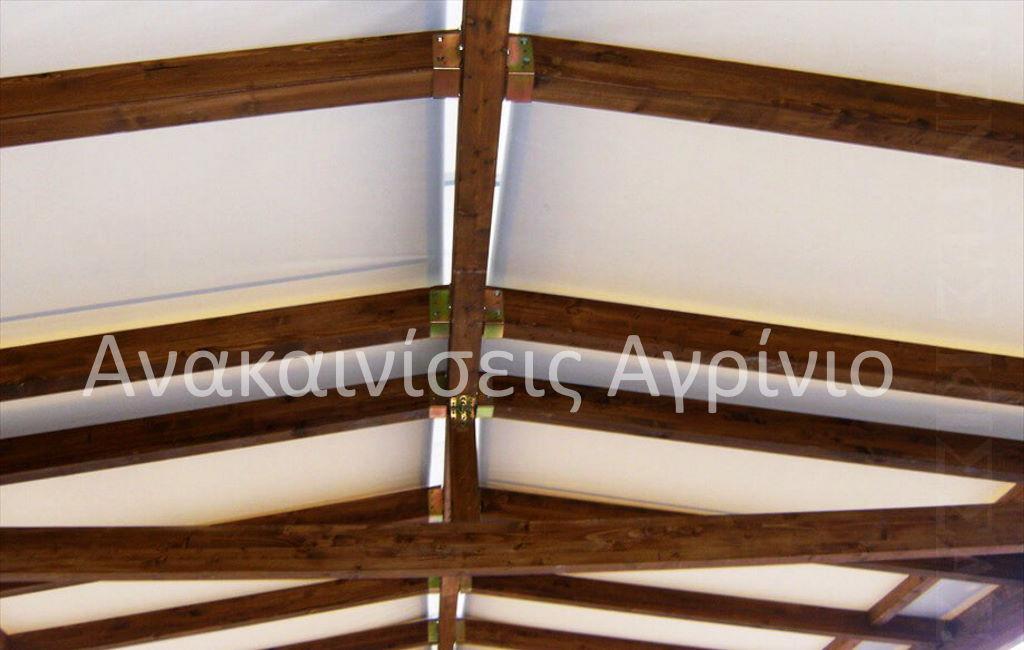 ανοιγόμενη πέργκολα ξυλουργικά αγρίνιο